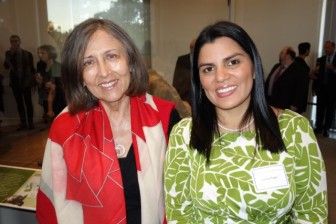 Lorena Tapia (r), Ecuadorian Minister of the Environment with Cecilia Alvear of Galápagos Digital