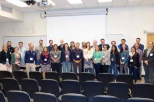 Speakers At The Galápagos Seminar Pose For A Group Photo.