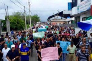 Demonstrators March On Santa Cruz Island, Galápagos.
