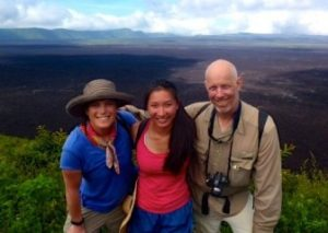 Caltech Student Laura Santoso (c) Visits The Sierra Negra Volcano On Isabela Island With Two Of Her Professors, Victoria Orphan (l) And Robert Phillips (r)