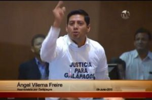 National Assembly Member Angel Vilema In A Heated Debate Over The New Law