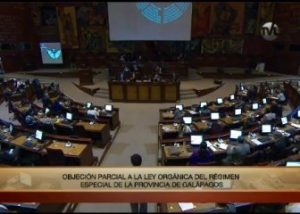 Ecuador National Assembly Meets To Ratify Presidential Action.
