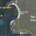 Map Shows Where The Galapaface I Is Aground Off Punta Carola