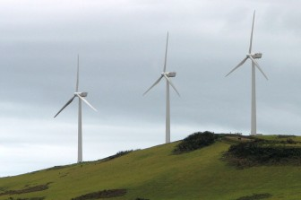 Wind farm on San Cristóbal Island, Galápagos